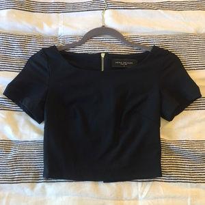 AKIRA Black Label Short Sleeve Crop Top